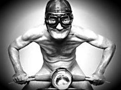Old Motorcycle Man